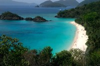 Trunk Bay Beach, St Johns, US Virgin Islands Fine Art Print