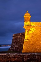 El Morro Fort lit up, Old San Juan, Puerto Rico Fine Art Print