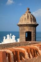 Lookout tower at Fort San Cristobal, Old San Juan, Puerto Rico, Caribbean Fine Art Print