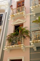 Puerto Rico, San Juan Facades of Old San Juan Fine Art Print