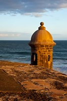 Sentry Box, El Morro Fort, San Juan, Puerto Rico Fine Art Print