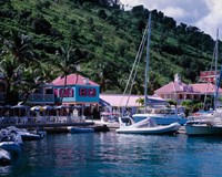 Sopers Hole Wharf, Pussers Landing, Frenchmans Cay, Tortola, Caribbean Fine Art Print