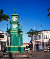 The Circus and Berkeley Monument, Basseterre, St Kitts, Caribbean by Paul Thompson - various sizes