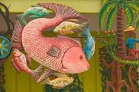 Fish Souvenir at Al Vern's Craft Market, Turks and Caicos, Caribbean by Walter Bibikow - various sizes
