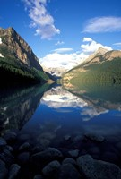Victoria Glacier and Lake Louise, Banff National Park, Alberta, Canada Fine Art Print