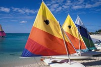 Sailboats on the Beach at Princess Cays, Bahamas Fine Art Print
