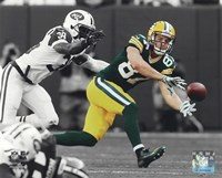 Jordy Nelson 2014 Spotlight Action Fine Art Print