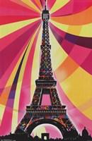"Eiffel Tower – Psychedelic - 22"" x 34"""