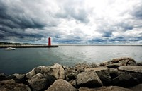 Muskegon South Breakwater lighthouse, Lake Michigan, Muskegon, Michigan, USA Framed Print