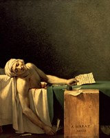 The Death of Marat, 1793 by Jacques-Louis David, 1793 - various sizes