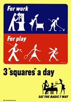 Three Squares a Day by John Parrot - various sizes