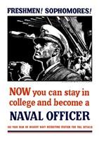 US Naval Officer with Binoculars (WWII) Fine Art Print