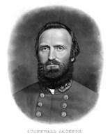 Thomas Stonewall Jackson (digitally restored) by John Parrot - various sizes