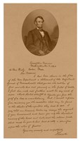 President Abraham Lincoln and His Letter to Mrs Bixby Fine Art Print