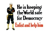 Enlist and Help Him - Navy Sailor Fine Art Print