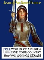 Joan of Arc - Vintage WWI Fine Art Print