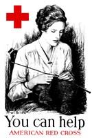 You Can Help - American Red Cross Fine Art Print