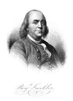 Benjamin Franklin (vintage portrait) by John Parrot - various sizes - $47.49