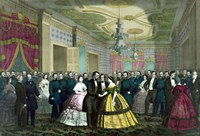 President Abraham Lincoln and Wife at Their Last Reception Fine Art Print