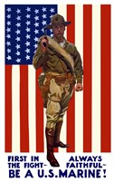 Be A U.S. Marine - First in the Fight Fine Art Print