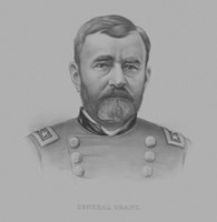 General Ulysses S. Grant (drawn portrait) Fine Art Print