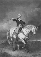 General George Washington on Horseback Fine Art Print