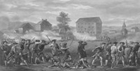 American Minutemen Being Fired Upon by British troops by John Parrot - various sizes, FulcrumGallery.com brand