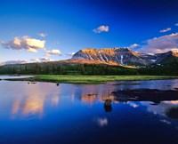 Sofa Mountain Reflects in Beaver Pond, Wateron Lakes National Park, Alberta, Canada Fine Art Print