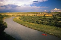 Milk River at Writing On Stone Provincial Park, Alberta Fine Art Print