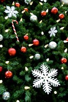Christmas decorations on tree by Cindy Miller Hopkins - various sizes