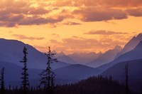 Sunset in Banff National Park, Alberta, Canada Fine Art Print