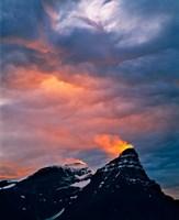 Alberta, Mt Chephren, Sunset light in Banff NP Fine Art Print