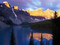 Lake Moraine at First Light, Banff National Park, Alberta, Canada Fine Art Print