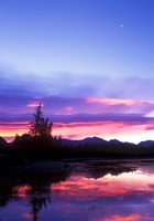 Crescent Moon Over Vermillion Lake in Banff National Park, Alberta, Canada by Rob Tilley - various sizes
