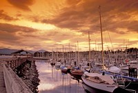 Boats at Sunset, Comox Harbor, British Columbia Fine Art Print