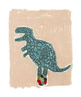 T Rex Balance Framed Print
