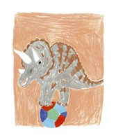 Triceratops Balance Fine Art Print