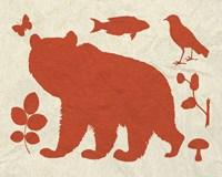 """Woodland Creatures III by Clara Wells - 10"""" x 8"""""""