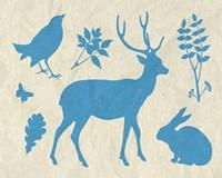 "Woodland Creatures IV by Clara Wells - 10"" x 8"""