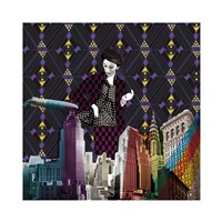 Vintage City II Fine Art Print