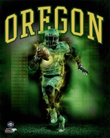 University of Oregon Ducks Player Composite Fine Art Print