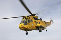 A Westland WS-61 Sea King helicopter of the Royal Air Force Fine Art Print