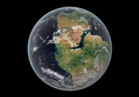 Western hemisphere of the Earth during the Early Jurassic period Fine Art Print