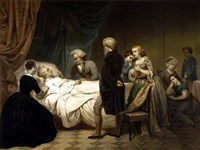 President George Washington on his Deathbed by John Parrot - various sizes