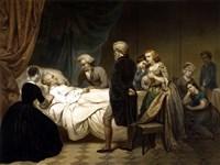 President George Washington on his Deathbed Fine Art Print