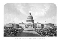 United States Capitol Building Fine Art Print