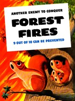 Another Enemy - Forest Fires by John Parrot - various sizes, FulcrumGallery.com brand