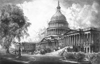 US Capitol Building (digitally restored) Framed Print
