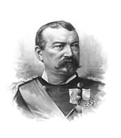 General Philip Sheridan (black & white portrait) by John Parrot - various sizes, FulcrumGallery.com brand