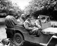 General Dwight D in a Jeep by John Parrot - various sizes, FulcrumGallery.com brand